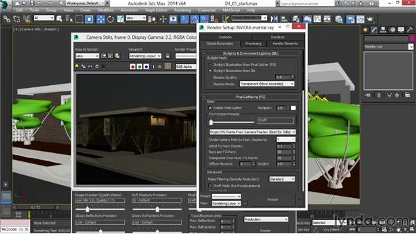 Rendering and optimizing rendering: Rendering Exteriors in 3ds Max