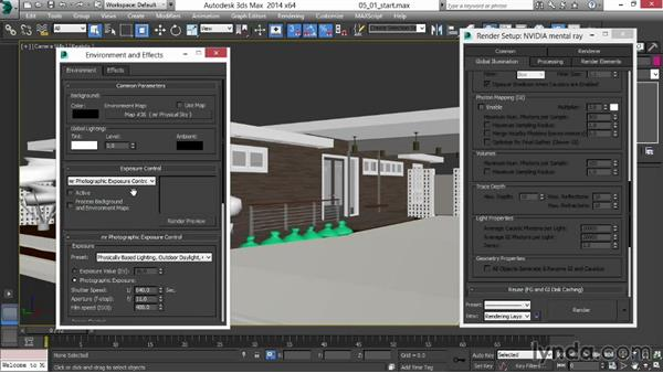 Creating an ambient-occlusion override material: Rendering Exteriors in 3ds Max