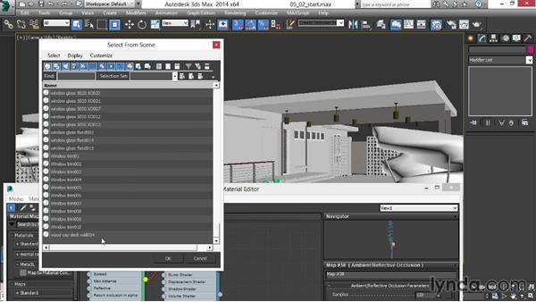 Creating an ambient-occlusion rendering pass with custom materials: Rendering Exteriors in 3ds Max