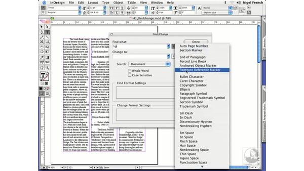 Find/change tips: InDesign CS2 Professional Typography