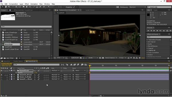 Setting blending modes and adjusting opacity: Rendering Exteriors in 3ds Max