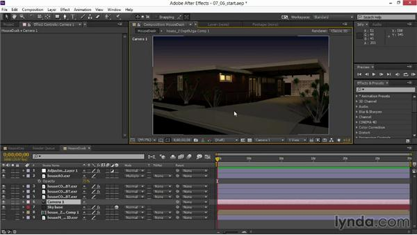 Adding quick clouds and sky: Rendering Exteriors in 3ds Max