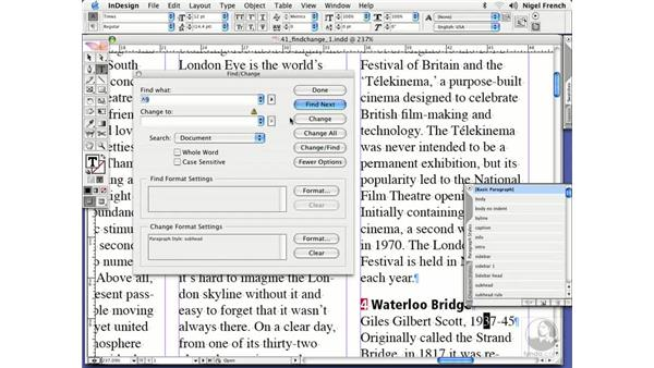 Wild card characters: InDesign CS2 Professional Typography