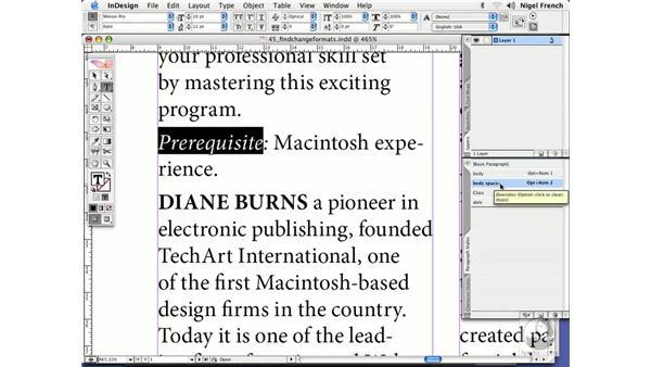 Formatting attributes: InDesign CS2 Professional Typography
