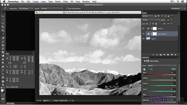 Saturating sky contrast: Creating Black-and-White Landscape Photos with Photoshop