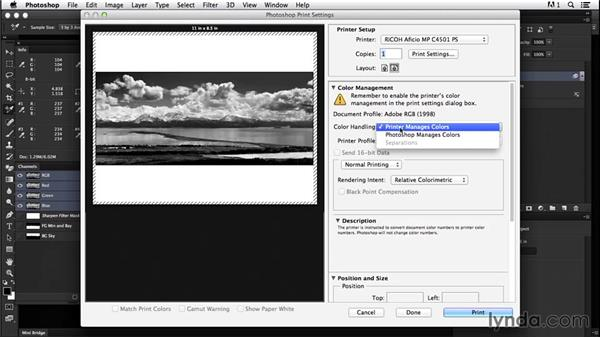 Best practices for exporting and printing black-and-white landscapes: Creating Black-and-White Landscape Photos with Photoshop