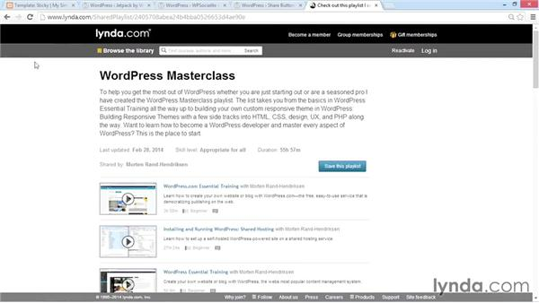 Diving into WordPress training with lynda.com: WordPress Plugins: Social Media Buttons