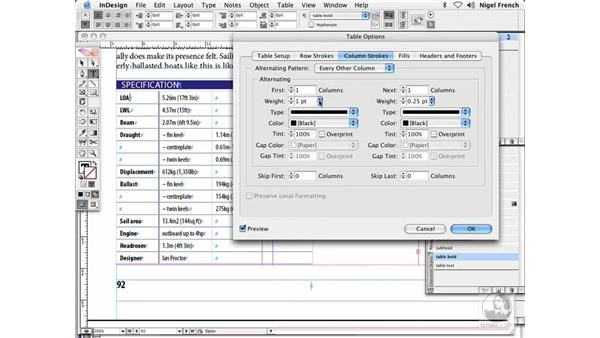Tables: InDesign CS2 Professional Typography