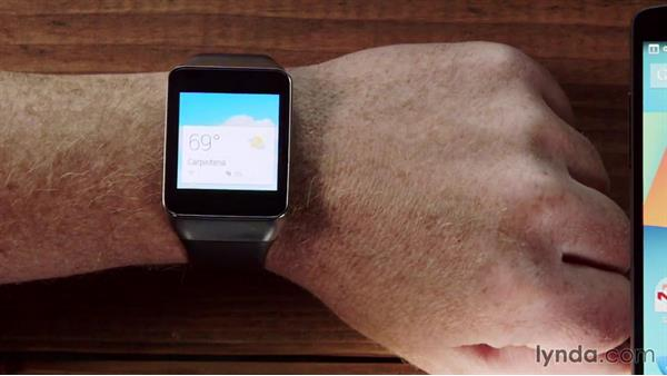 Understanding the basic functions of the watch: Up and Running with Android Wear