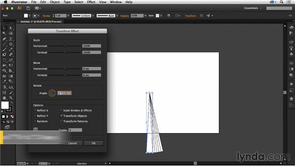 Using the transform command in Illustrator: Creative Quick Tips