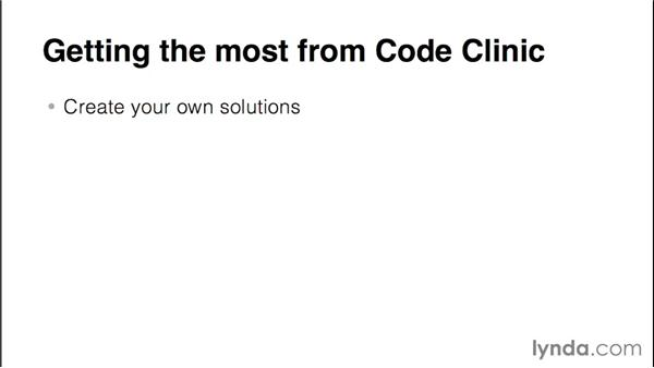 Getting the most from Code Clinic: Code Clinic: Java