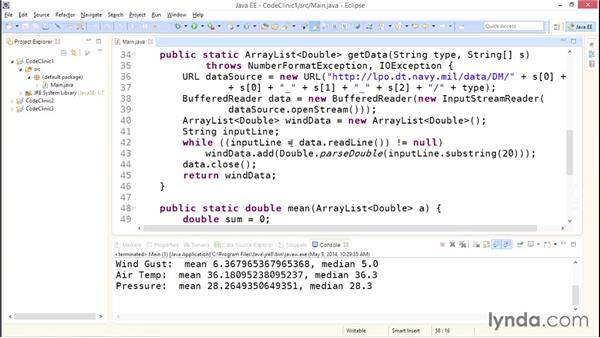 My solution: Getting data: Code Clinic: Java