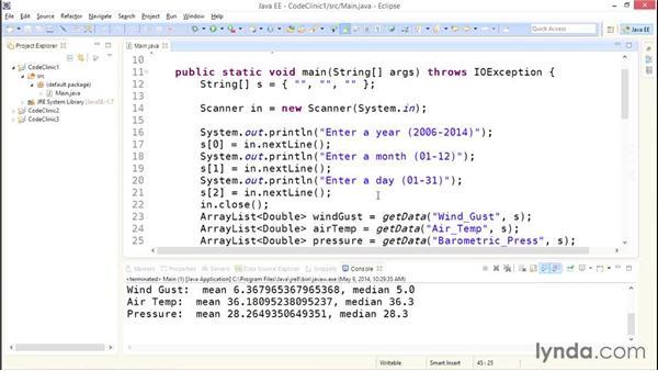 My solution: Handling input: Code Clinic: Java