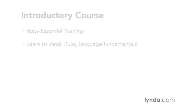 What you should know before starting this course: Code Clinic: Ruby