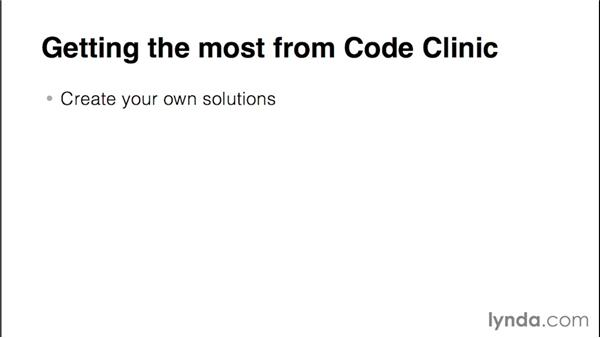 Getting the most from Code Clinic: Code Clinic: C#