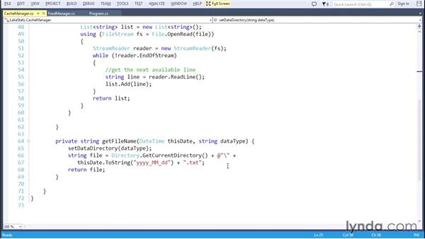Saving the data to a local cache: Code Clinic: C#