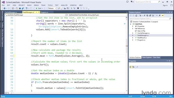 Calculating the aggregated statistics: Code Clinic: C#