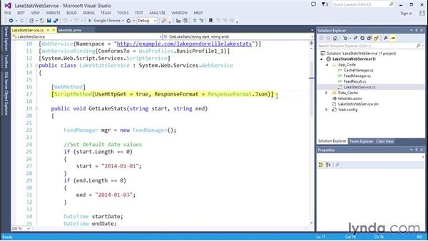 Configuring the ASP.NET web service: Code Clinic: C#