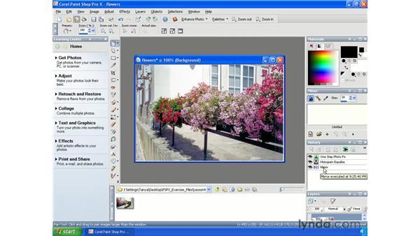 Using the History Palette: Paint Shop Pro X Essential Training