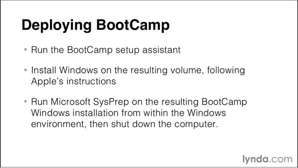 Deploying Boot Camp: Imaging and Deploying Macintosh Computers