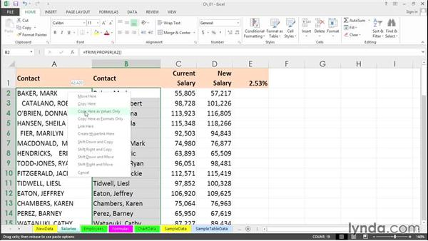 Convert formulas to values with a simple drag: Excel 2013 Tips and Tricks