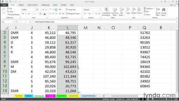 Copy data or formulas down a column instantly: Excel 2013 Tips and Tricks
