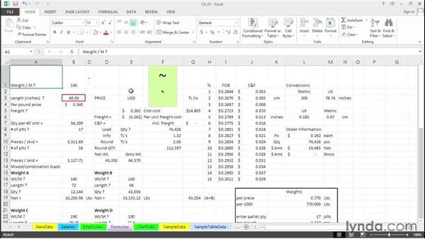 Instantly display all worksheet formulas: Excel 2013 Tips and Tricks