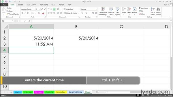 Instantly enter today's date or time: Excel 2013 Tips and Tricks