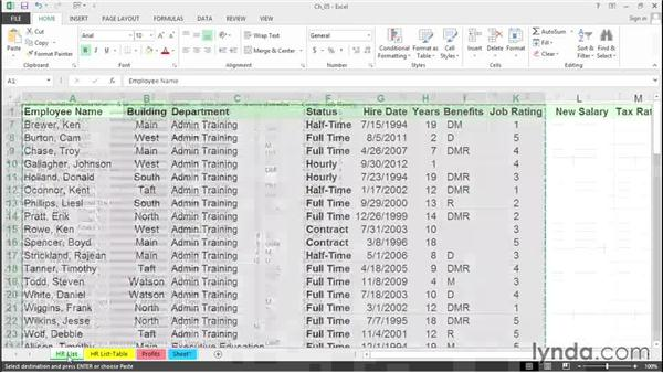 Select noncontiguous ranges and visible cells only: Excel 2013 Tips and Tricks