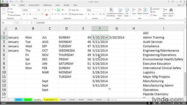 Enter dates and date series efficiently: Excel 2013 Tips and Tricks