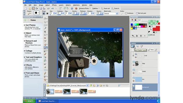 Understanding layers: Paint Shop Pro X Essential Training