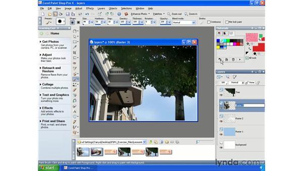 Renaming layers: Paint Shop Pro X Essential Training