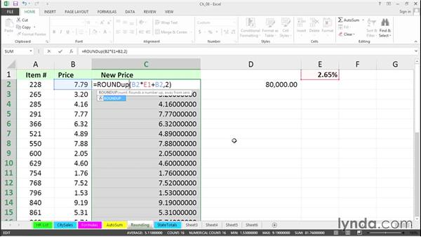 Use rounding shortcuts: Excel 2013 Tips and Tricks