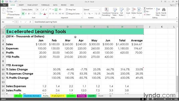 Accentuate date with alignment tools: Excel 2013 Tips and Tricks