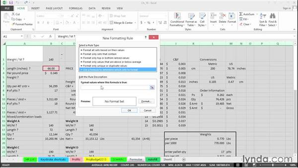 Use Conditional Formatting to highlight formula cells only: Excel 2013 Tips and Tricks
