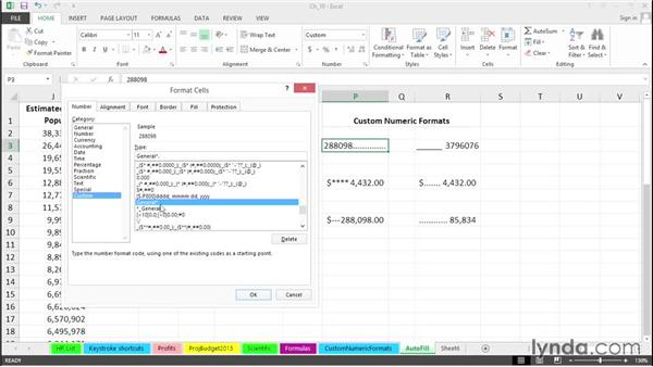 Create custom formats: Dot leaders and more: Excel 2013 Tips and Tricks