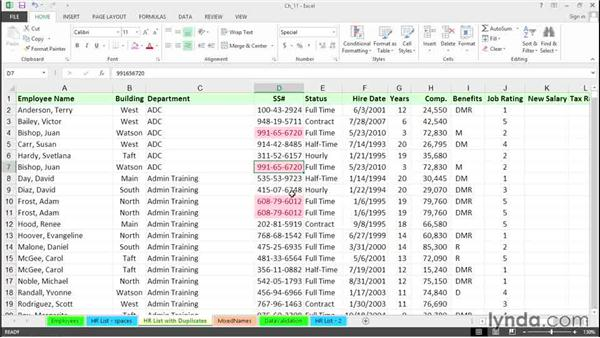 Identify and eliminate duplicates: Excel 2013 Tips and Tricks