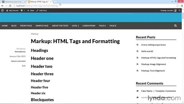 Applying Edge Web Fonts to your content: WordPress Developer Tips: Using Custom Web Fonts