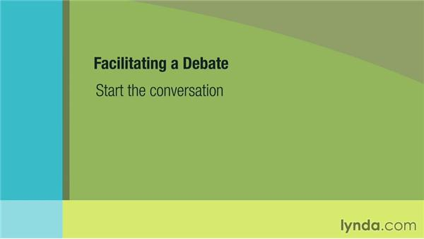 Creating needed debate: Management Tips