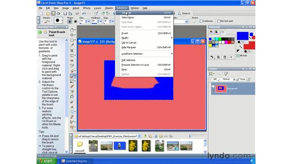 Drawing selections: Paint Shop Pro X Essential Training