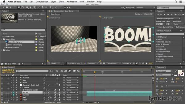 Case study introduction: 3D Typography in After Effects