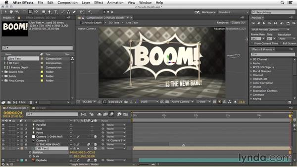 Pseudo depth: 3D Typography in After Effects