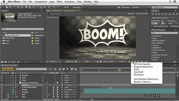 Extruded text layers: 3D Typography in After Effects