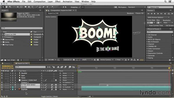 Prep for using the CINEWARE effect: 3D Typography in After Effects