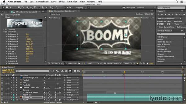 Text and vector extrusion: 3D Typography in After Effects