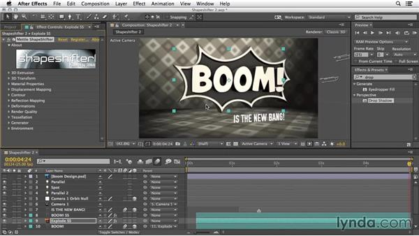 3D displacement mapping: 3D Typography in After Effects