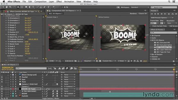 Extruded text: 3D Typography in After Effects