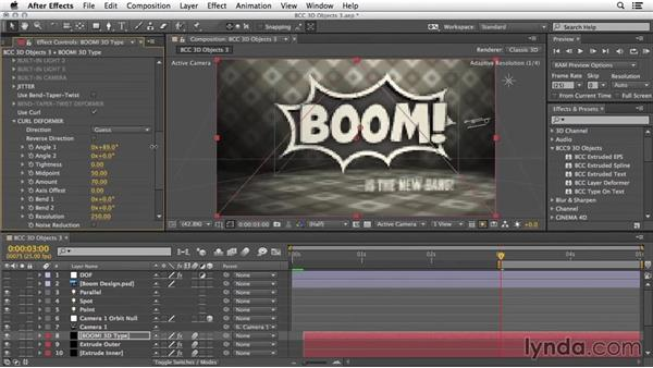 More options: 3D deformers: 3D Typography in After Effects