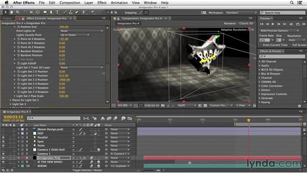 More options: Warping and light rigs: 3D Typography in After Effects