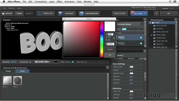 3D text workflow: 3D Typography in After Effects